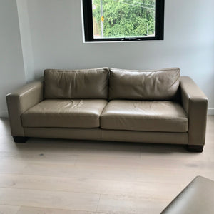 Tuxedo Leather Sofa Through Fanuli