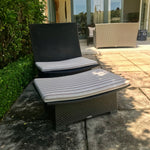 Spa Recliner with Adjustable Back + Footstool by Dedon