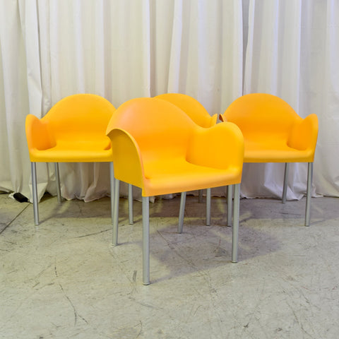 Set of SIX Cloud Chairs by Carlo Bartoli for Segis