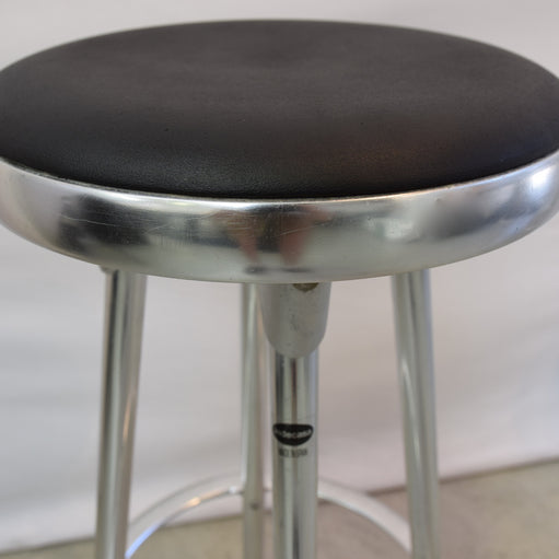 Aluminium Base Barstool with Black Top through Kezu