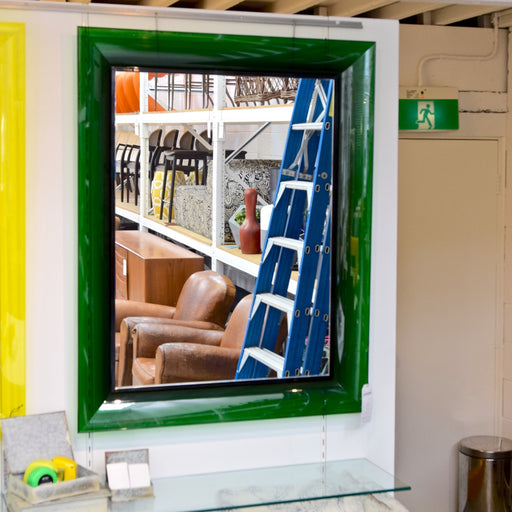 François Ghost Mirror Large by Philippe Starck for Kartell in Green