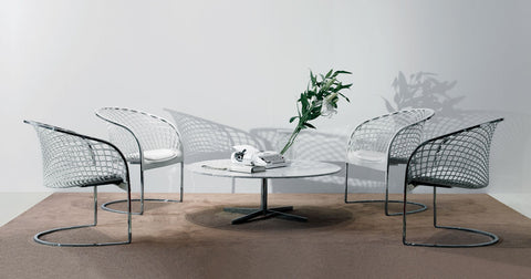 PAIR of ARETÉ AR‐01 Lounge Chairs by Franco Poli for Matteo Grassi