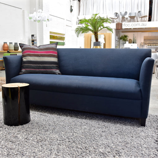 Blue Linen Sofa by Coco Republic