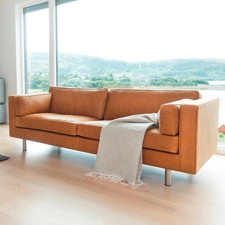 Manhattan Three Seat Sofa by Vatne Mobler through Danish Red