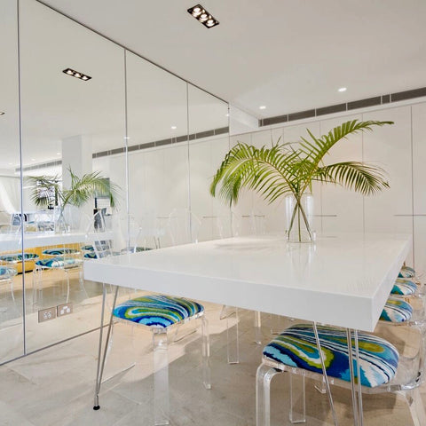 Weightless Dining Table by Haldane Martin in White Corian