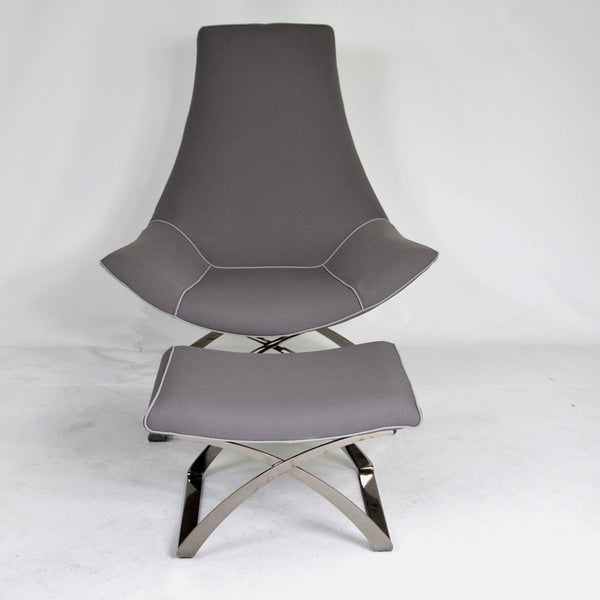 'Nice A' Lounge Chair + Ottoman by MIDJ Italy