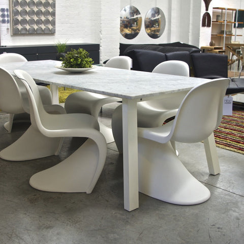 Set of SIX Panton Chairs by Vitra - White