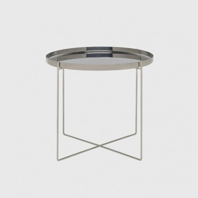 Habibi Tray Table by e15 - Stainless Steel