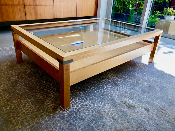 Glass Top Coffee Table by Pacini e Cappellini through Fanuli