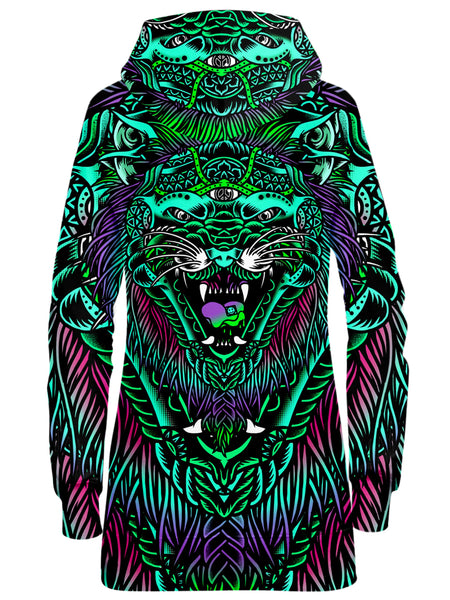 Set 4 Lyfe - Acid Tiger Hoodie Dress