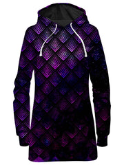 Galactic Dragon Scale Purple Hoodie Dress, Noctum X Truth, T6 - Epic Hoodie