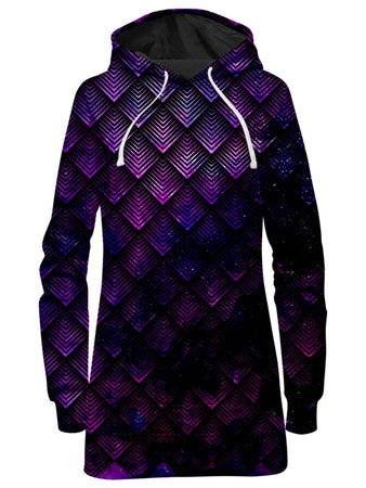 Noctum X Truth - Galactic Dragon Scale Purple Hoodie Dress