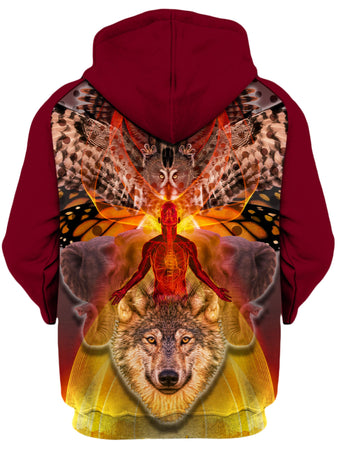 Shawn Hocking - Animals Unisex Zip-Up Hoodie