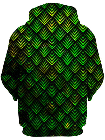 Noctum X Truth - Galactic Dragon Scale Green Unisex Zip-Up Hoodie