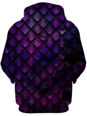 Galactic Dragon Scale Purple Unisex Zip-Up Hoodie, Noctum X Truth, T6 - Epic Hoodie