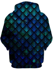 Galactic Dragon Scale Teal Unisex Zip-Up Hoodie, Noctum X Truth, T6 - Epic Hoodie