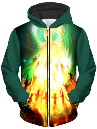 Shawn Hocking - All is One Unisex Zip-Up Hoodie