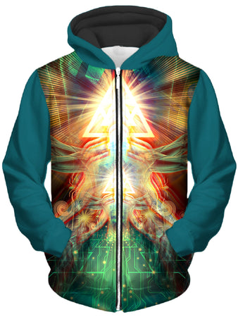 Shawn Hocking - Altra Electric Unisex Zip-Up Hoodie