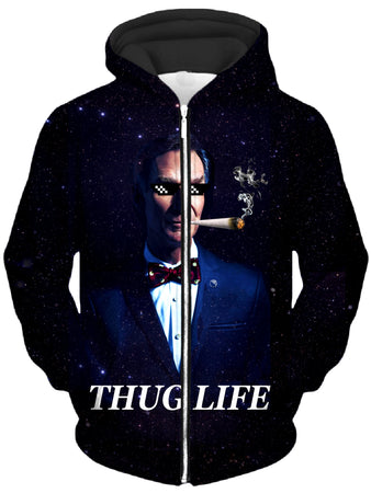 Noctum X Truth - Bill Hye Thug Life Unisex Zip-Up Hoodie