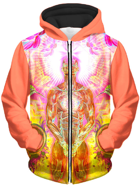 Shawn Hocking - Blossoms Blooming Dubline Unisex Zip-Up Hoodie