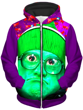 Heather McNeil - Bubbles Unisex Zip-Up Hoodie