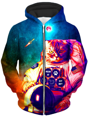 Noctum X Truth - Catstronaut Unisex Zip-Up Hoodie