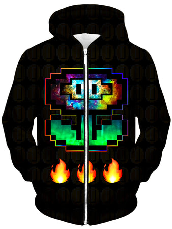 Noctum X Truth - Flower Power Unisex Zip-Up Hoodie