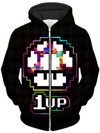 Noctum X Truth - Level Up Mushroom Unisex Zip-Up Hoodie