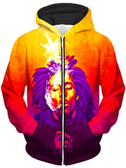 One Love Unisex Zip-Up Hoodie, Heather McNeil, T6 - Epic Hoodie
