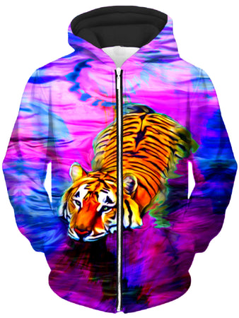 Heather McNeil - Water Tiger Unisex Zip-Up Hoodie