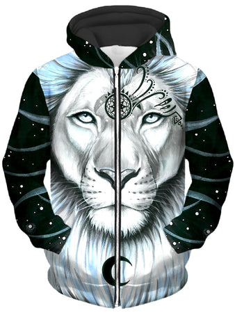 Svenja Jodicke - Lion Galaxy Unisex Zip-Up Hoodie