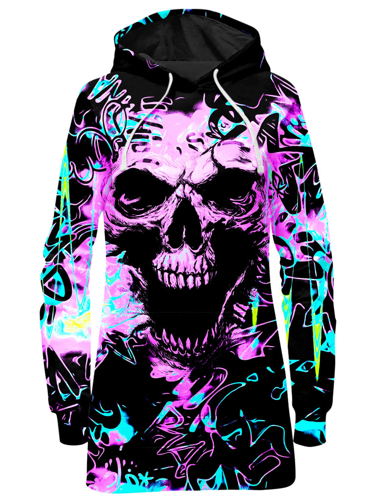 Big Tex Funkadelic - Skull Graffiti Hoodie Dress