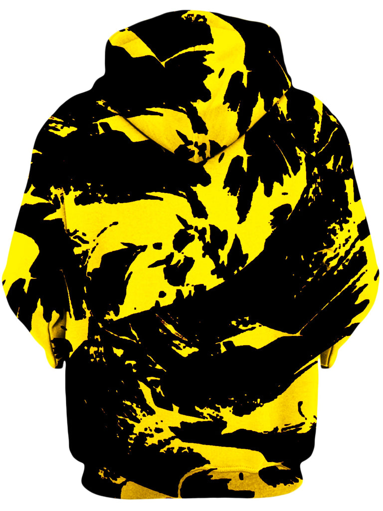 Black and Yellow Paint Splatter Unisex Hoodie, Big Tex Funkadelic, T6 - Epic Hoodie
