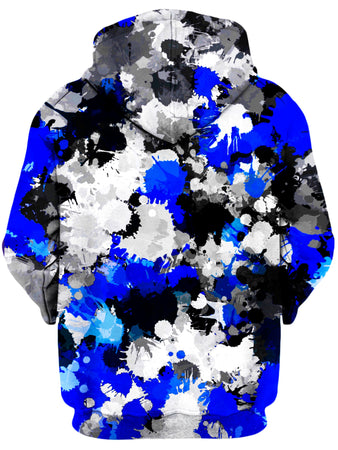 Big Tex Funkadelic - Blue and Grey Paint Splatter Unisex Hoodie