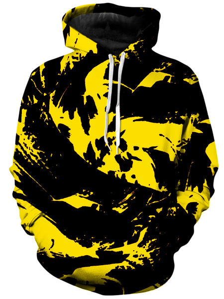 Big Tex Funkadelic - Black and Yellow Paint Splatter Unisex Hoodie