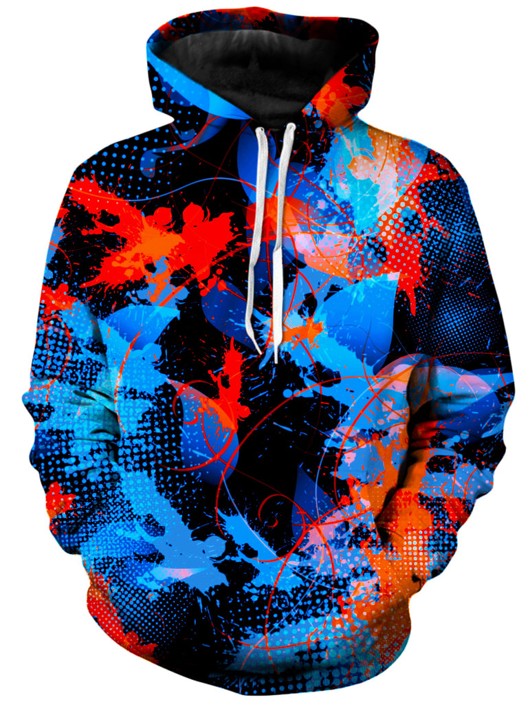 Big Tex Funkadelic - Blue and Orange Paint Splatter Unisex Hoodie