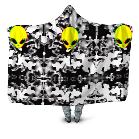 Big Tex Funkadelic - Trippy Alien Hooded Blanket