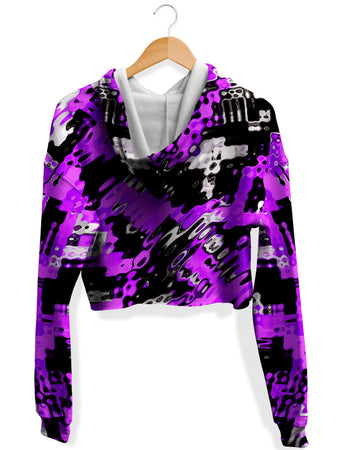 Big Tex Funkadelic - Purple Rave Drip Fleece Crop Hoodie