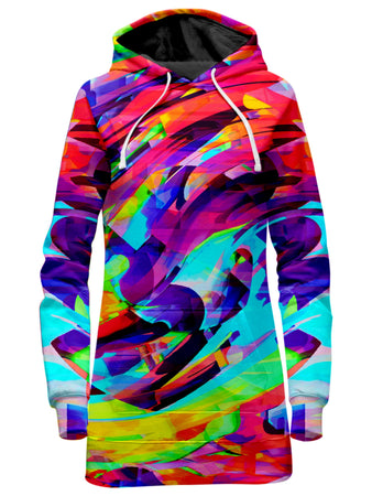 Big Tex Funkadelic - Rainbow Graffiti Explosion Hoodie Dress