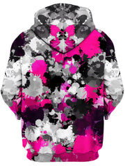 Pink and Grey Paint Splatter Unisex Zip-Up Hoodie, Big Tex Funkadelic, T6 - Epic Hoodie