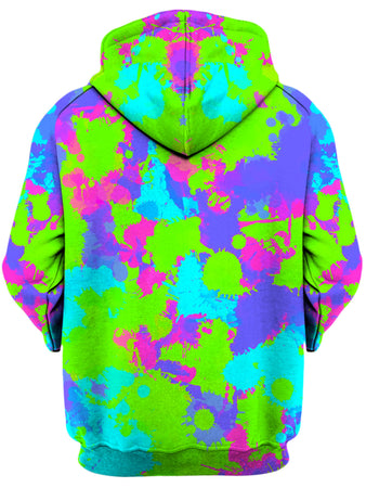 Big Tex Funkadelic - 90s Neon Paint Splatter Unisex Zip-Up Hoodie