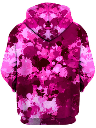 Big Tex Funkadelic - Pink Berry Paint Splatter Unisex Zip-Up Hoodie