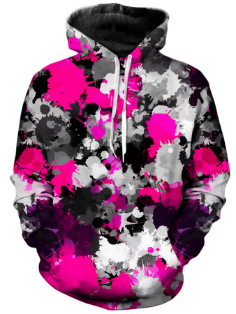 Big Tex Funkadelic - Pink and Grey Paint Splatter Unisex Hoodie