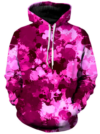 Big Tex Funkadelic - Pink Berry Paint Splatter Unisex Hoodie