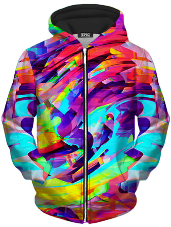 Big Tex Funkadelic - Rainbow Graffiti Explosion Unisex Zip-Up Hoodie