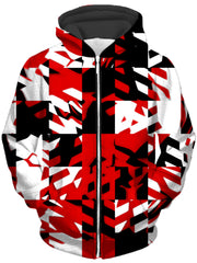 Red Digital Unisex Zip-Up Hoodie, Big Tex Funkadelic, T6 - Epic Hoodie