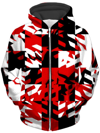 Big Tex Funkadelic - Red Digital Unisex Zip-Up Hoodie