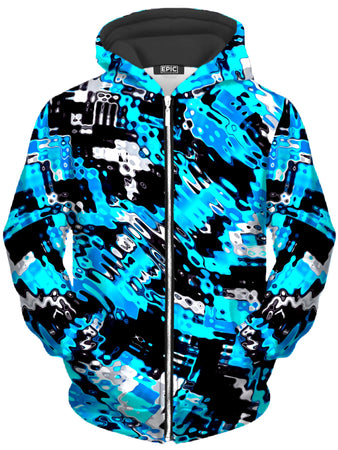 Big Tex Funkadelic - Aqua Rave Unisex Zip-Up Hoodie