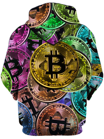On Cue Apparel - Bitcoin Pattern Hoodie