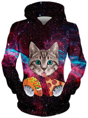 Pizza Taco Cat Hoodie, Different Type, On Cue Apparel - Epic Hoodie